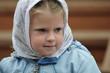 Русская девочка в платочке