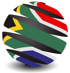 South Africa flag spiral effect
