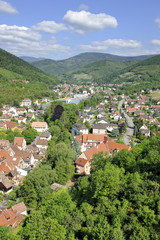 Aerial view of Kaysersberg village