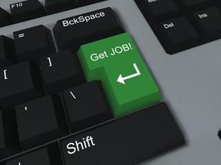 Getting job keyboard