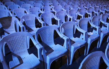 empty large hall with chairs