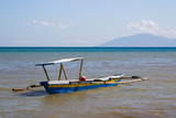 Native fishing boat in timor leste