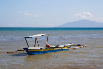 Native fishing boat in timor leste