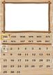 Calendario Universale Carta e Legno-Wood Calendar-Vector