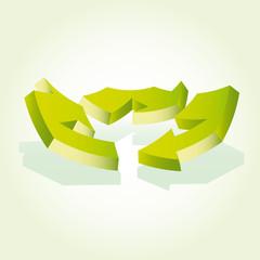 Recicle symbol arrows vector.