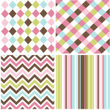 Fototapety seamless patterns with fabric texture