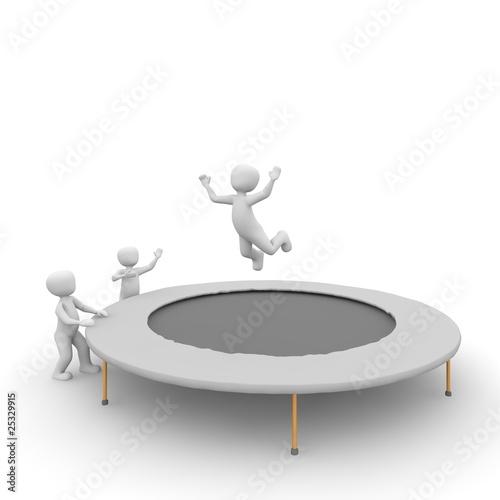 Trampolin springen