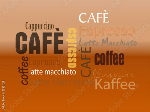 Cafe Schild Espresso Text
