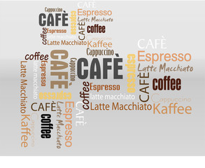 text Collage Cafe Kaffee