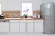 Leinwanddruck Bild - Küchenzeile