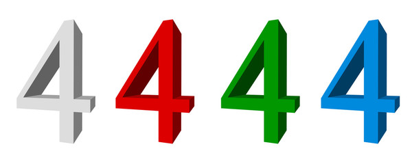 3D digits : 4 (four)