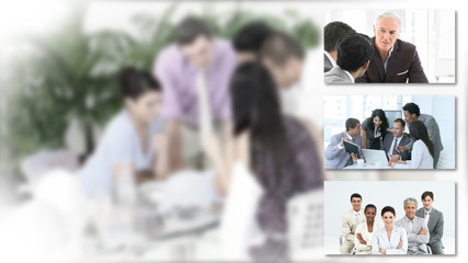 businessteams collage
