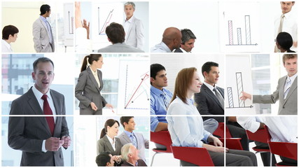 collage showing presentations