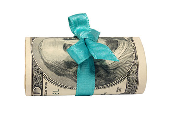 Dollars with a blue bow