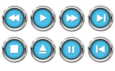 Player button in türkis