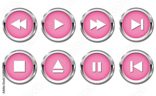 Player Button in rosa / pink
