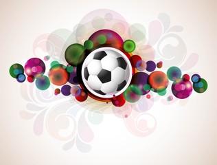 abstract colorful footballs vector design