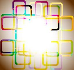 Abstract rainbow circle design