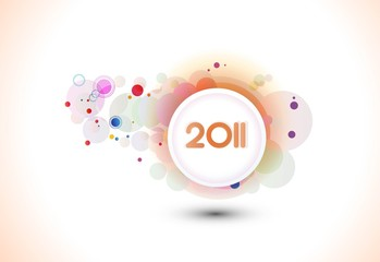 abstract shin 2011 new year background