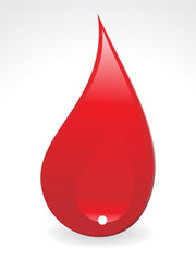 abstract  blood drop
