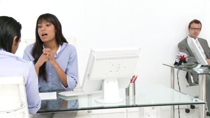 ethnic businessman having a job interview