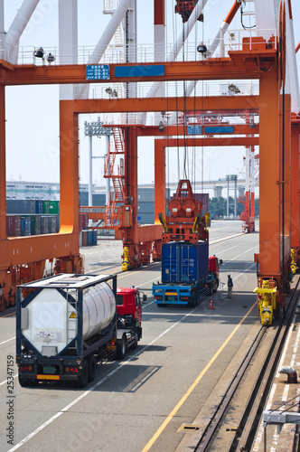 container box in cargo operation