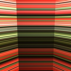 Striped red green mirror background.