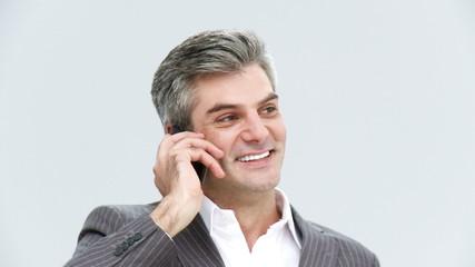 mature businessman on phone