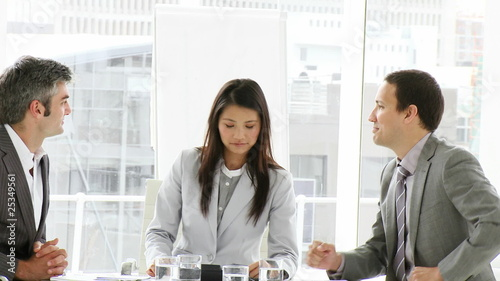 assertive businessteam during a meeting