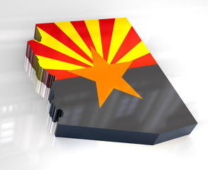 3d Flag map og Arizona