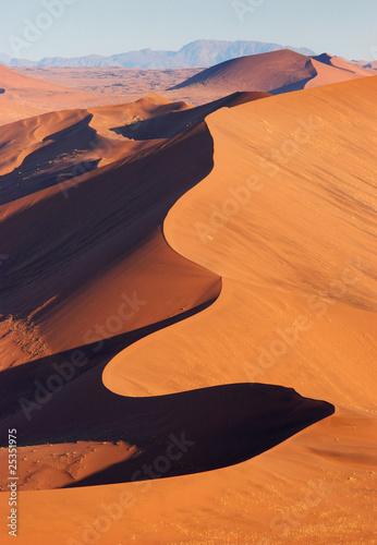 Fotobehang Woestijn Wüste Namib von oben