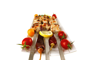 shish kebab with vegetables