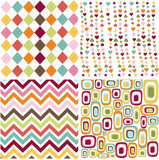 Fototapety colorful seamless patterns with fabric texture