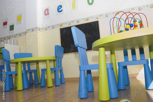 Leinwanddruck Bild Centro educación infantil guarderia