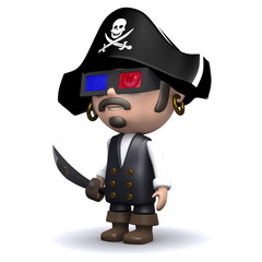 Pirate 3d glasses