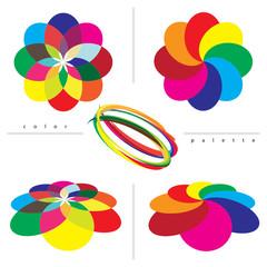 Color guide palette backgrounds. Vector illustration