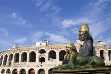 Arena di Verona con quinte