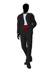 Wedding Groom in a Tuxedo Silhouette