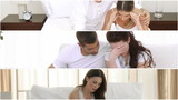 montage of three films showing couples having argument