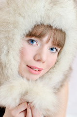 girl in fur