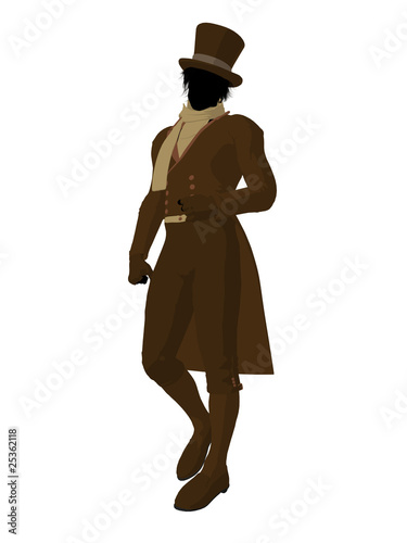 """""""Victorian Man Illustration Silhouette"""" Stock photo and ..."""