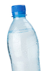 Bottle of water. Closeup