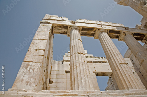 Pilalrs of the Propylaea on the Acropolis in Athens