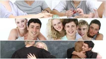 collage showing students life