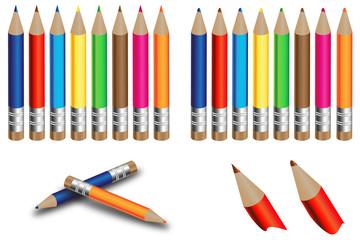 Mini crayons de couleur 2