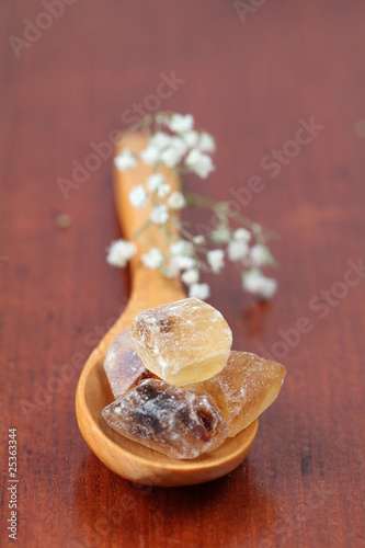 Sugar collection - brown candies with delicate caramel flavor
