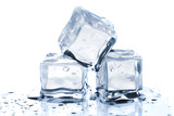 Three melting ice cubes - 25363571
