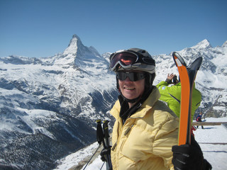 senior skiing - Zermatt ,Switzerland & Matterhorn