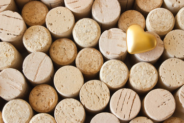 Many wine corks joined as background