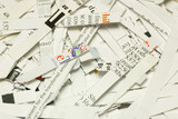 Some shredded paper concepts of confidentiality poster
